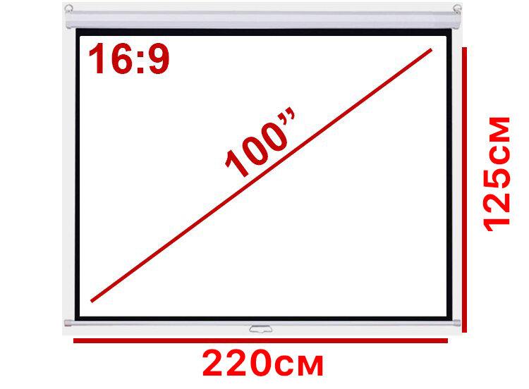 Экран для проектора 100