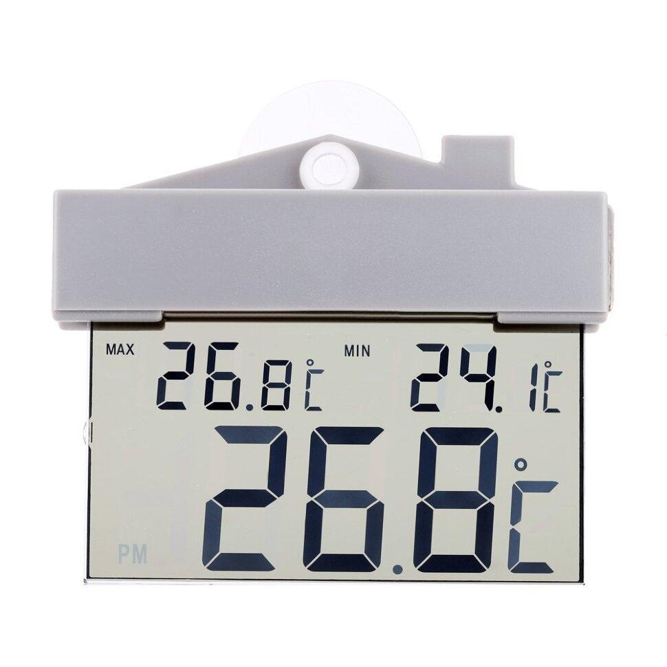 ЖК-термометр гигрометр на присоске