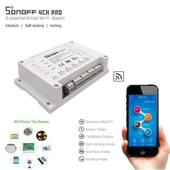 WiFi-Реле Sonoff 4CH PRO R2